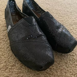 Classic Black Glitter Toms